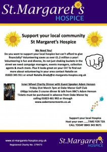 St Margarets Hospice - Inner Wheel Charity Dinner with Adam Henson @ Oake Manor Golf Club
