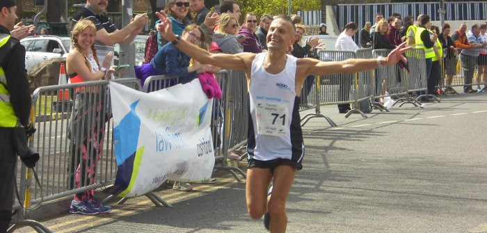 Robert Burn, the 2nd place winner in the Mens Full Marathon Category & winner in the over 50 category
