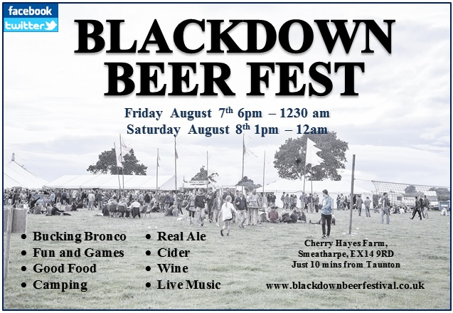 Blackdown Beer Festival @ Cherry Hayes Farm, Smeatharpe   Smeatharpe   United Kingdom