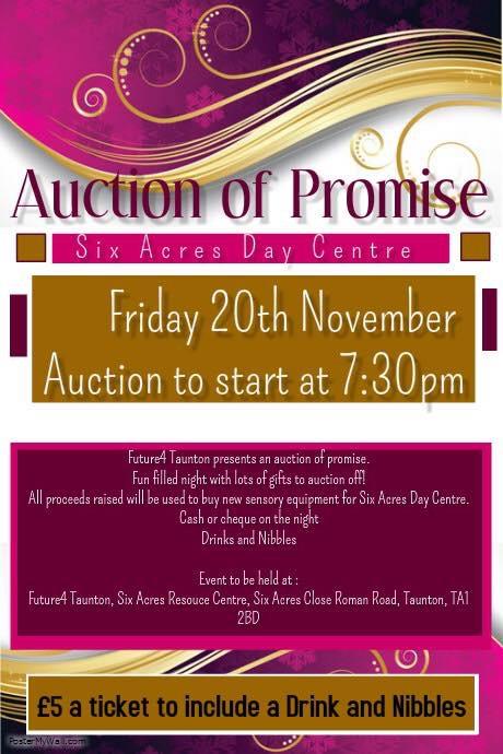 Auction Of Promise @ Six Acres Day Centre, Roman Road, Taunton