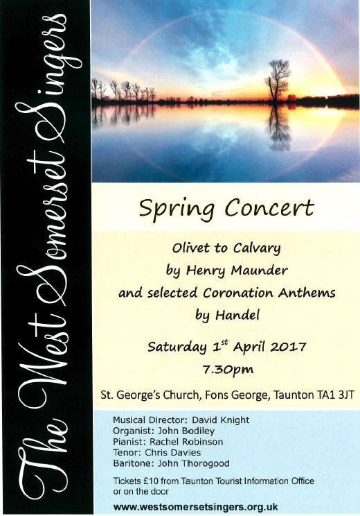 Spring Concert @ St George's Church Taunton @ St Georges Church   England   United Kingdom