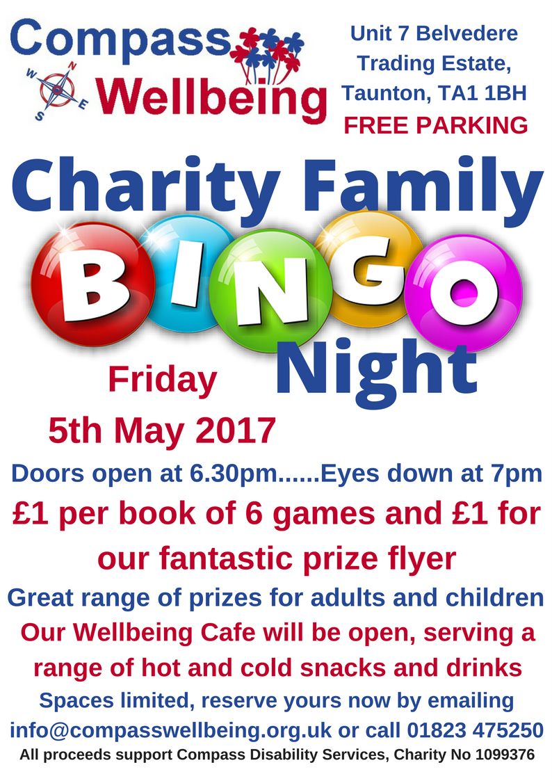 Charity Family Prize Bingo @ Compass Wellbeing @ Compass Wellbeing | England | United Kingdom