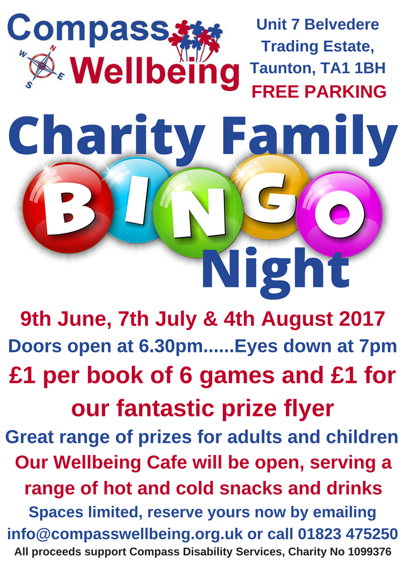 Charity Bingo @ Compass Wellbeing Centre @ Compass Wellbeing Centre | England | United Kingdom