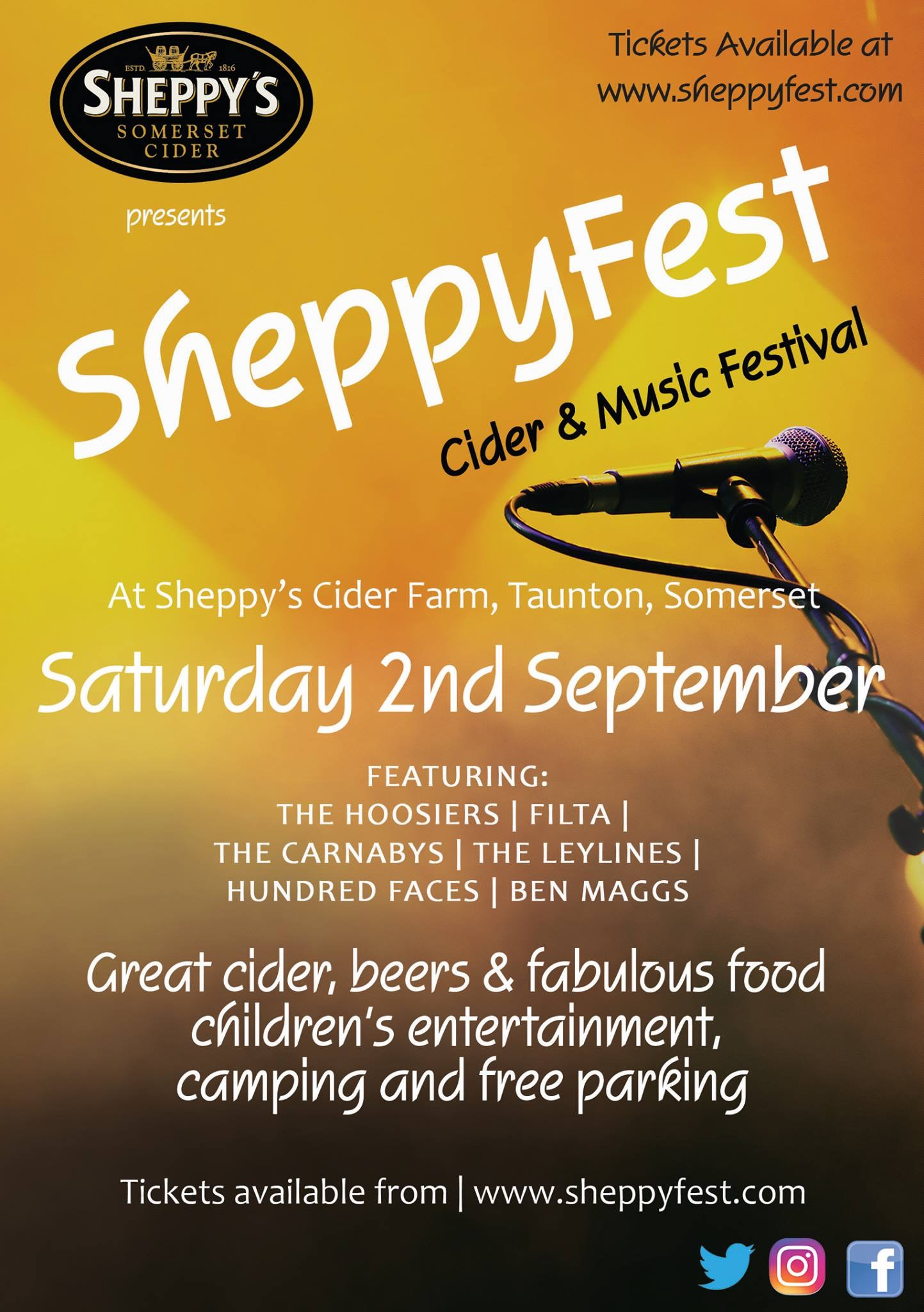 Sheppyfest @ Sheppy's Cider Farm @ Sheppy's Cider Farm | Bradford-on-Tone | England | United Kingdom