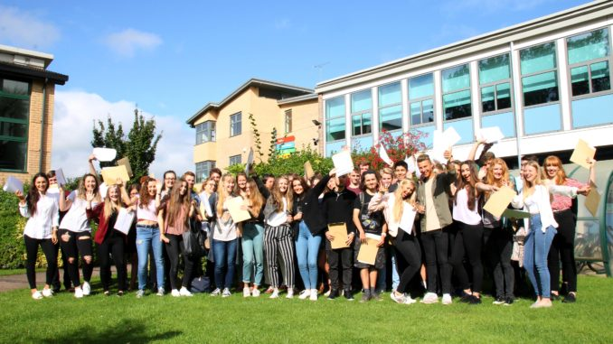 Students in taunton celebrate their a level results 97 3 for College john abbott piscine