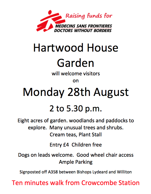 Hartwood House Garden Open Day @ Crowcombe Heathfield @ Crowcombe Heathfield | England | United Kingdom