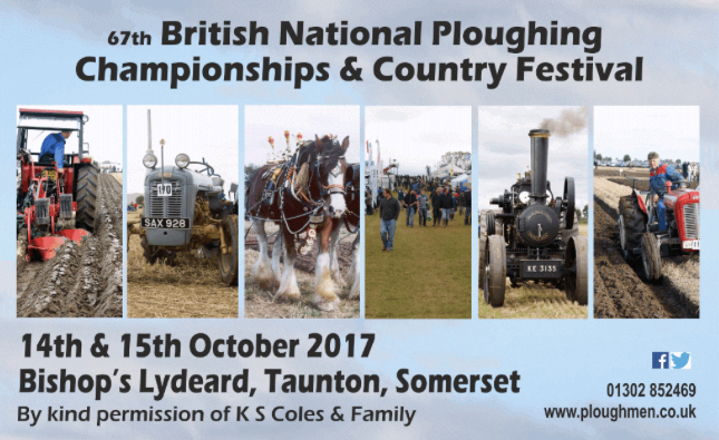 British National Ploughing Championships & Country Festival @ Bishop's Lydeard @ Bishop's Lydeard, Taunton | Bishop's Lydeard | England | United Kingdom