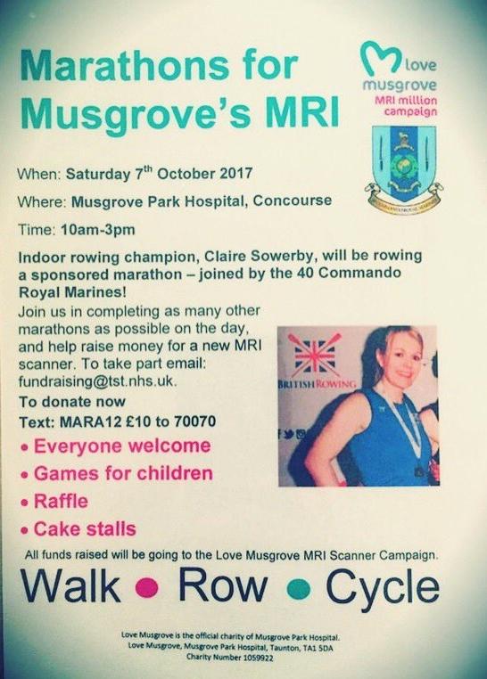 Marathons For Musgrove MRI @ Musgrove Hospital @ Musgrove Park Hospital Concourse | England | United Kingdom