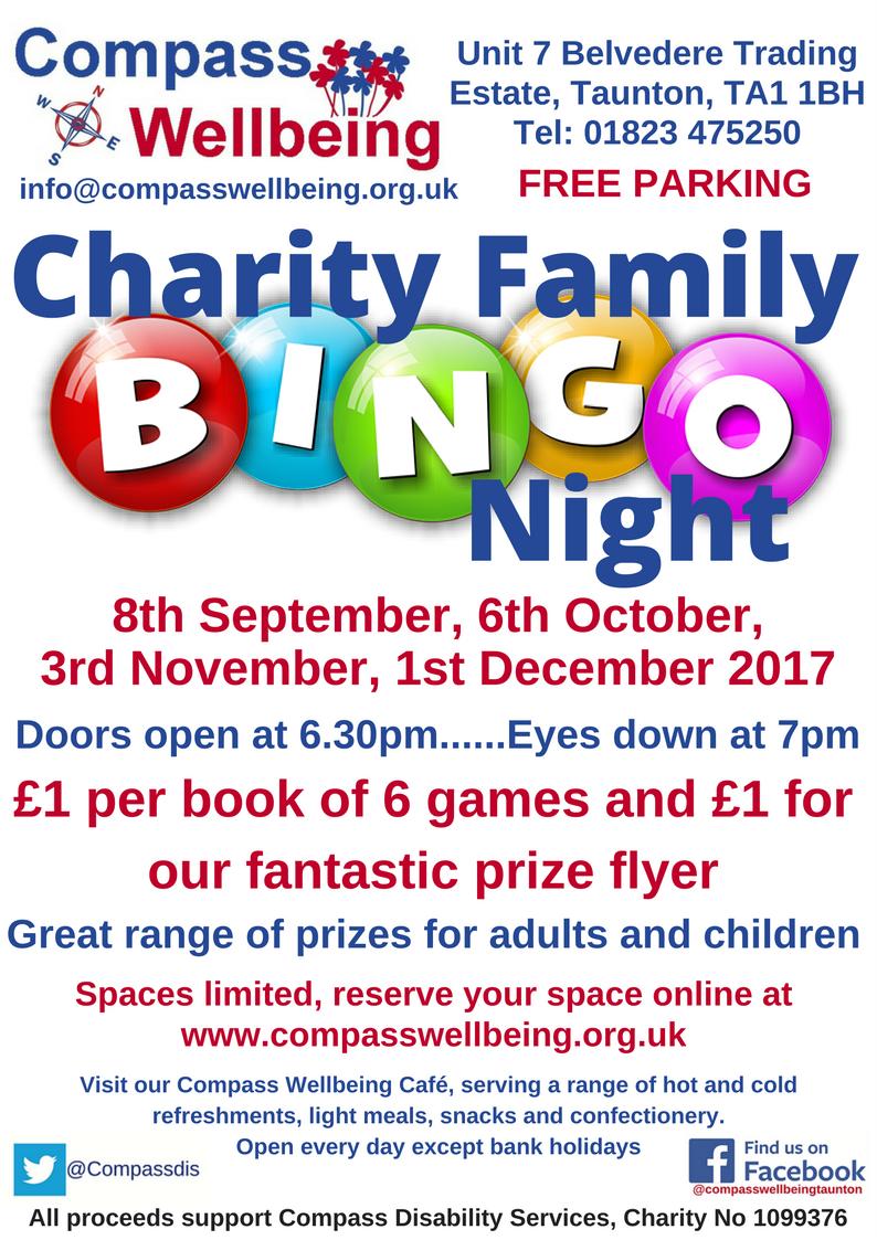 Charity Bingo @ Compass Wellbeing Centre | England | United Kingdom