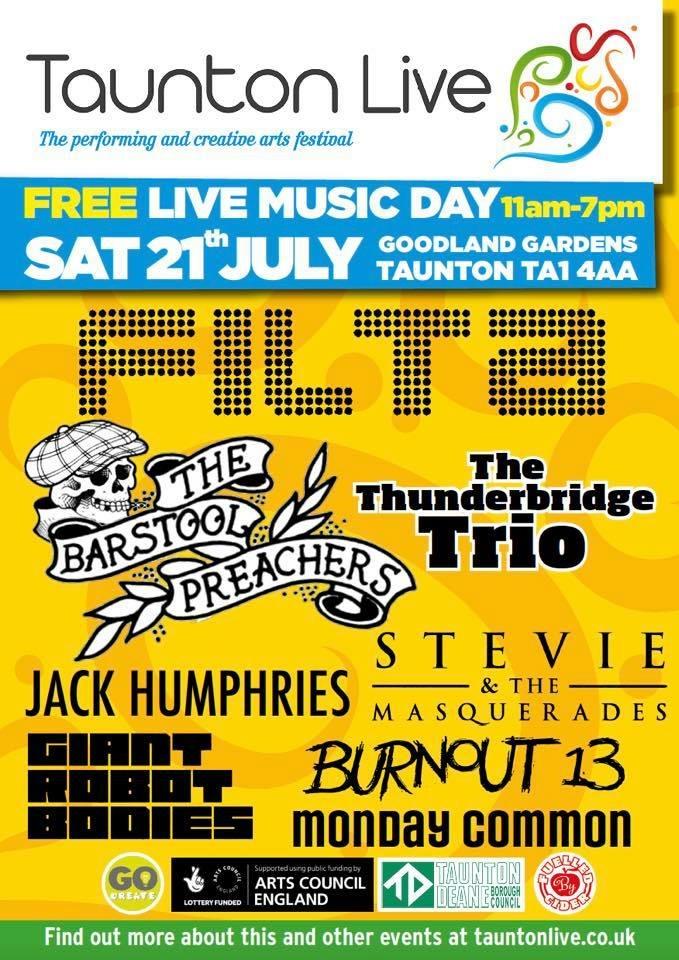 Taunton Live: Live Music Day @ Goodland Gardens | England | United Kingdom