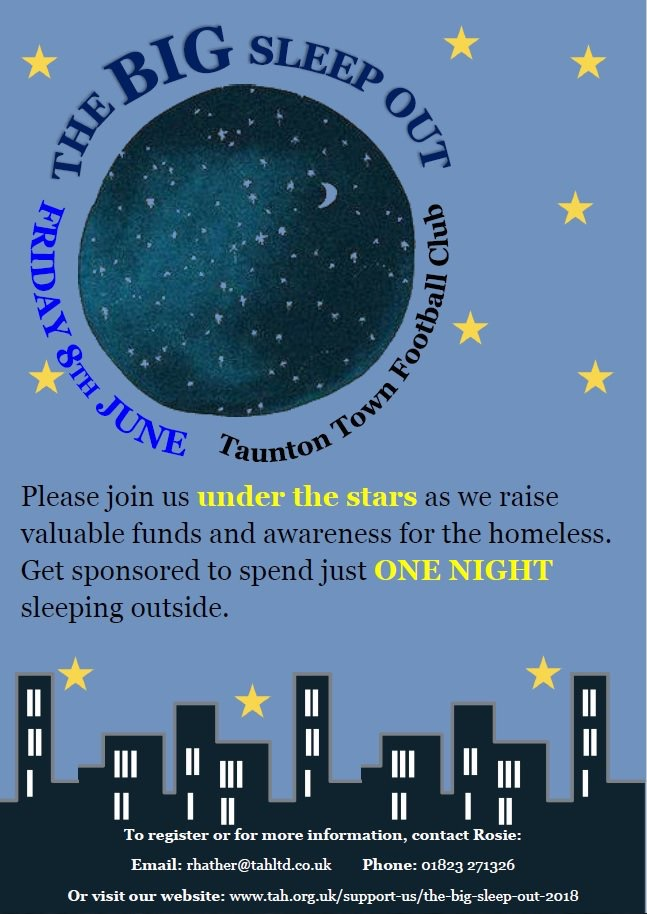 The Big Sleep Out @ Taunton Town Football Club | United Kingdom