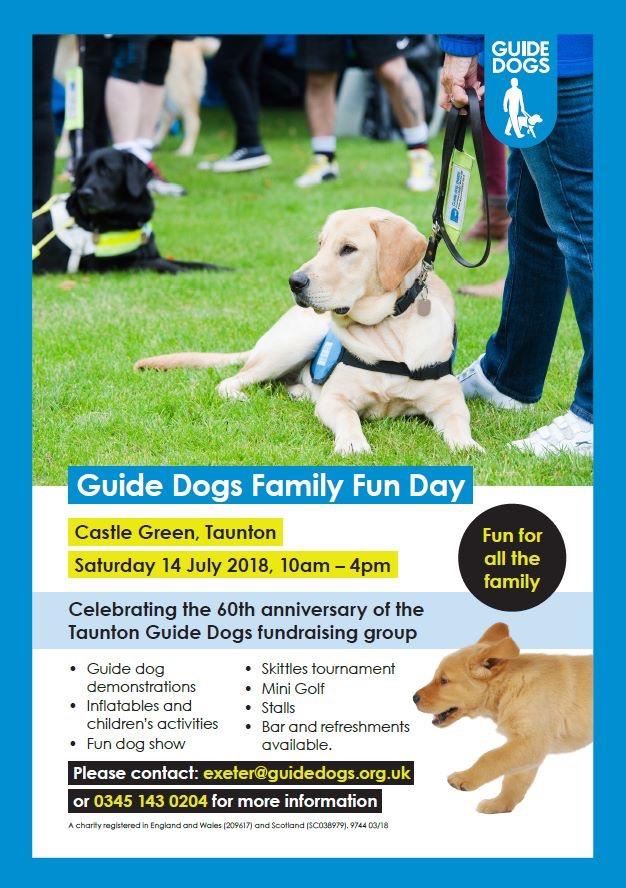 Guide Dogs Family Fun Day @ Castle Green, Taunton | England | United Kingdom