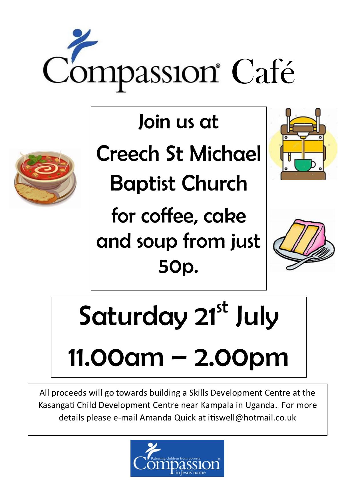 Compassion Cafe @ Creech St Michael Baptist Church | Creech Saint Michael | England | United Kingdom