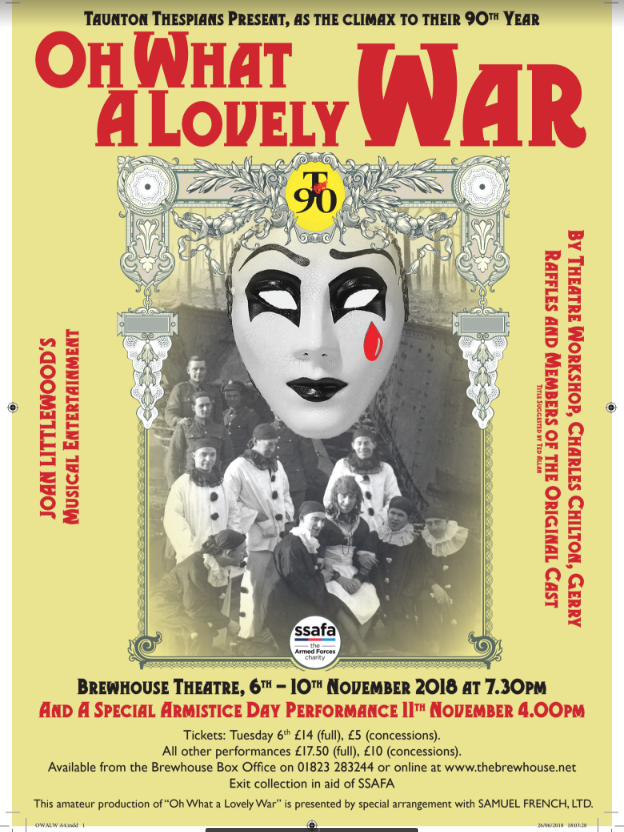 Taunton Thespians present Oh What A Lovely War @ The Brewhouse Theatre & Arts Centre | England | United Kingdom
