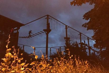 Evening Haunted High Ropes @ The Vivary Adventure Centre | England | United Kingdom