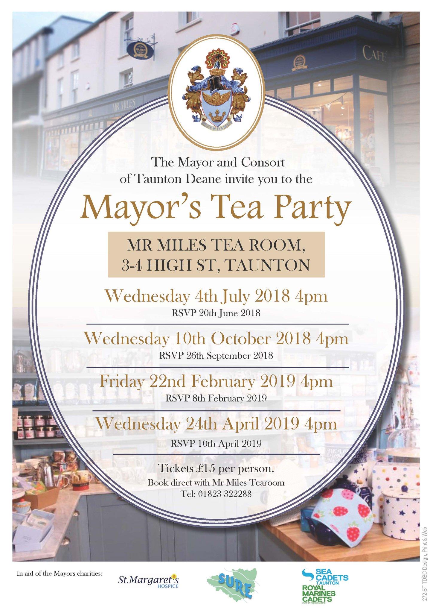 Mayor of Taunton Deane's Tea Party @ Mr Miles Tea Room