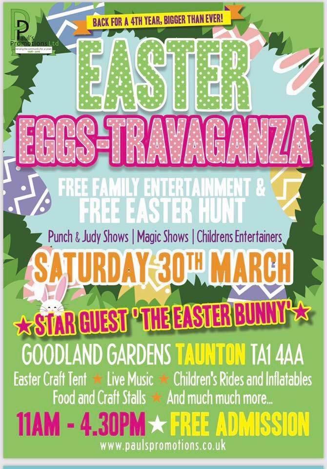 Easter Eggs-Travaganza @ Goodlands Gardens, Taunton