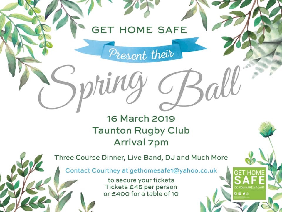 Get Home Safe Spring Ball @ Taunton Rugby Club