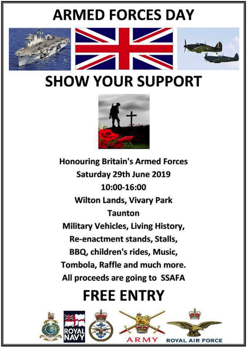 Armed Forces Day @ Wilton Lands, Vivary Park