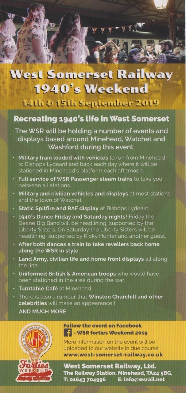 West Somerset Railway: 1940's Weekend @ West Somerset Railway